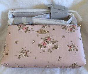 NWT Coach Rose Bouquet Print Zip Top Crossbody Bag 91758 Blossom Multi