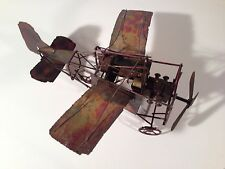 Handmade Metal Propeller Airplane Music Box, Art, Rustic, Primitive, Vintage
