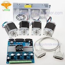 4Axis Nema 23 Stepper Motor287oz-in Driver board 1A TB6560 power supply CNC Kits