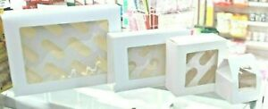 White Card Cupcake Boxes and Plastic With Window,1, 4, 6 And 12 Hole,STRONG BOX