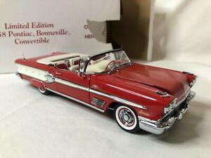 1/24 scale metal DANBURY MINT 1958 Pontiac Bonneville convertible red