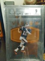 2016 Tom Brady Clear Vision Bronze 12/79 JERSEY NUMBER!!! BGS GRADED 9