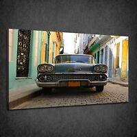VINTAGE HAVANA CAR RETRO CUBAN BOX CANVAS PRINT WALL ART PICTURE