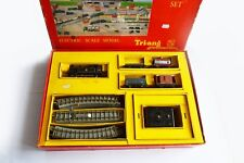 Vintage Boxed Working TRIANG 00 Gauge Electric Goods Set -COMPLETE with Papers