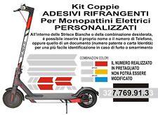 Kit Adesivi Riflettenti Monopattino Elettrico Accessori Sicurezza Stradale xiaom