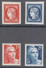 France 1949 MNH Mi 840-843 Sc 612-615 Ceres & Marianne 1st French postage stamps