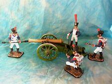 Figurines Russes Belle pièce d'artillerie - Canon de Gribeauval et 4 servants
