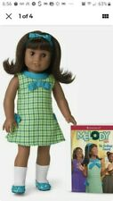 "NEW in Box American Girl 18"" MELODY Doll with Book Outfit Dark Skin Black Hair"