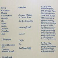 1972 PAN AM INTERNATIONAL FLAG SERVICE vintage airlines menu DINNER or LUNCH