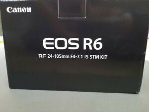 New Canon EOS R6 Full-Frame Mirrorless Camera Lens Kit RF 24-105mm F4-7.1 IS STM