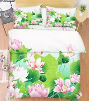 3D Lotus Pool 867 Bett Kissenbezüge steppen Duvet Decken Set Single DE Kyra