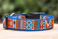 Aztec Dog Collar, Handmade in Australia, Nylon Dog Collar VERY STRONG