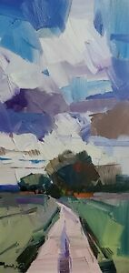 JOSE TRUJILLO Oil Painting IMPRESSIONISM Contemporary Landscape MODERN SIGNED