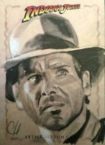 2008 Topps Indiana Jones Heritage Sketch Card Chris Henderson INDY RARE!!!