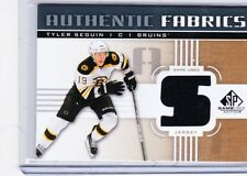 11-12 2011-12 SP GAME USED TYLER SEGUIN 'S' AUTHENTIC FABRICS JERSEY GOLD BRUINS