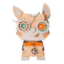 Robotime DIY Flower Pot 3D Wooden Puzzle Dog  Assembly Toy for Kids Girls Boys