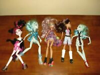 ~MATTEL~LOT of 5~ASSORTED~MONSTER HIGH DOLLS~EXCELLENT CONDITION~GREAT GIFT~
