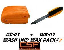 CSF Reinigungs-Pack Orange Towel Delirium DC 01 Trockentuch + WB 01 Felgenbürste