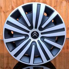 """4x15"""" wheel trims to fit Citroen Berlingo MK2  (2008-2017)  Silver/Black"""