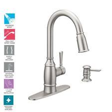 MOEN Noell Single-Handle Pull-Down Sprayer Kitchen Faucet in Spot Resist SS