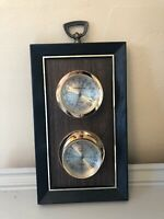 Springfield Crestwood Weather Station Thermometer, Barometer  Humid Vintage