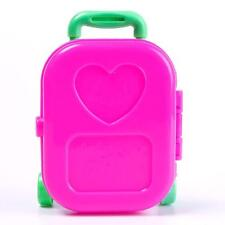 Cute Lovely Kid Child Wheel Travel Train Pink Suitcase Luggage Case for Barbie j