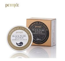 Petitfee Black Pearl & Gold Hydrogel Eye Patch 60 sheet Korea Cosmetic