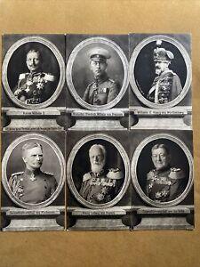 6 Wohlfahrtskarten, von der Görlitz, Ludwig v. Bayern, Kaiser Wilhelm II, etc.