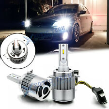 For Volkswagen Golf GTi Passat EOS White LED Headlight Bulbs w/Retainer No Error
