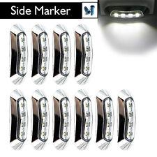10 pcs 12V 24V LED Car Side Marker Tail Light Lamp Clearance Trailer Truck White