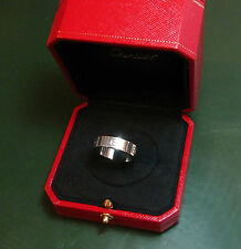 ORIGINALE Cartier LOVE-Ring 750er ORO BIANCO * 9,95 G * Goldring Anello da uomo