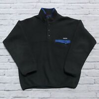 Vintage Patagonia Synchilla Polar Fleece Snap-T Pullover Sweater Size L Green