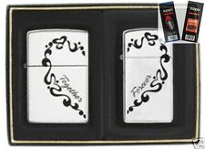 Zippo 0465 together forever 2 piece Lighter with *FLINT & WICK GIFT SET*