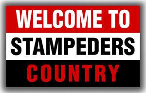Calgary Stampeders Football Team WELCOME Flag 90x150cm 3x5ft Fan Best Banner