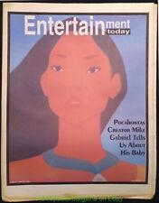 POCAHONTAS NEWSPAPER COVER ENTERTAINMENT TODAY 1995 ISSUE  WALT DISNEY ANIMATION