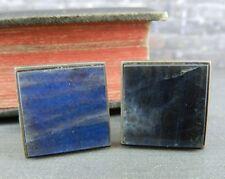 Kalevala Koru Finland Sterling Silver Spectrolite Square Cufflinks