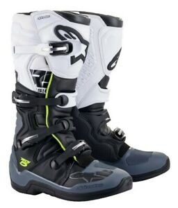 Alpinestars Tech 5 Motocross Offroad MX Race Boots Black Grey White Adults