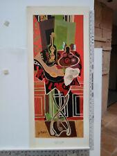 "SUPER RARE! ORIGINAL Georges Braque Serigraph Print ""The Red Table"" c1940s"