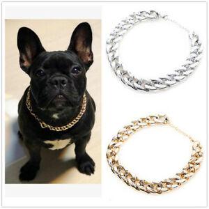 Silver Pet Choke Chain Necklace Collar Small Cat Dog French Bulldog Puppy Teddy