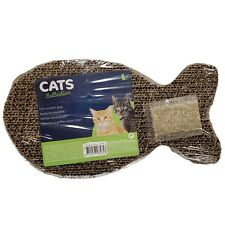 Fish Shape Corrugated Cardboard Scratch Pad Cat Scratching Toy New