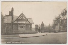 Lancashire postcard - Wigan, Entrance to Mesnes Park