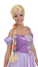 "45"" Blonde Braid w/ Flowers Rapunzel Costume ADULT WIG Tower Princess Paradise"