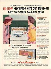 1955 Kelvinator PRINT AD Clothes Washer Washing great detailed laundry rm decor