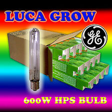 2pcs of GE LUCAGROW HPS 600w Lamp Hydroponic Grow Light for Hydroponics Growers
