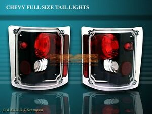 73-87 CHEVY SILVERADO TRUCK/TAHOE TAIL LIGHTS BLK 84 83