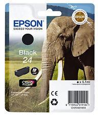 CARTOUCHE EPSON NOIRE 24 / elephant t24 expression photo xp-750 xp-850 noir