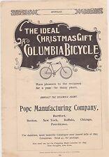 1890s Vintage Magazine Ad #B1-16 - Columbia Bicycle - Christmas Gift