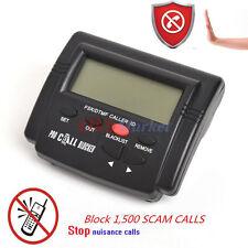 Caller ID Box Call Blocker Stop Nuisance Calls LCD Display 1500 Numbers Capacity