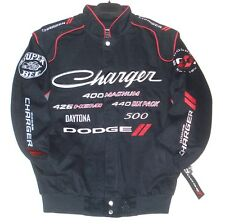 Dodge Charger Racing Embroidered Cotton Jacket JH Design Black Generic XXXXL