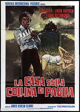 LA CASA SULLA COLLINA DI PAGLIA MANIFESTO CINEMA HORROR 1976 EXPOSÉ POSTER 4F